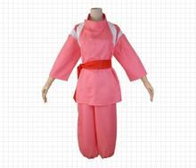 Fedex 50 Sets Hot Anime Movie Spirited Away Chihiro Cosplay Costumes Girls Cute Pink Kimono Japenese Style Women Party Clothing