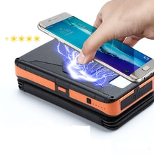 En plein air Batterie Portable Solaire 20000mAh imperméable pliable Qi Sans Fil Chargeur Solaire Batterie Externe Avec Lumière LED pour TÉLÉPHONES