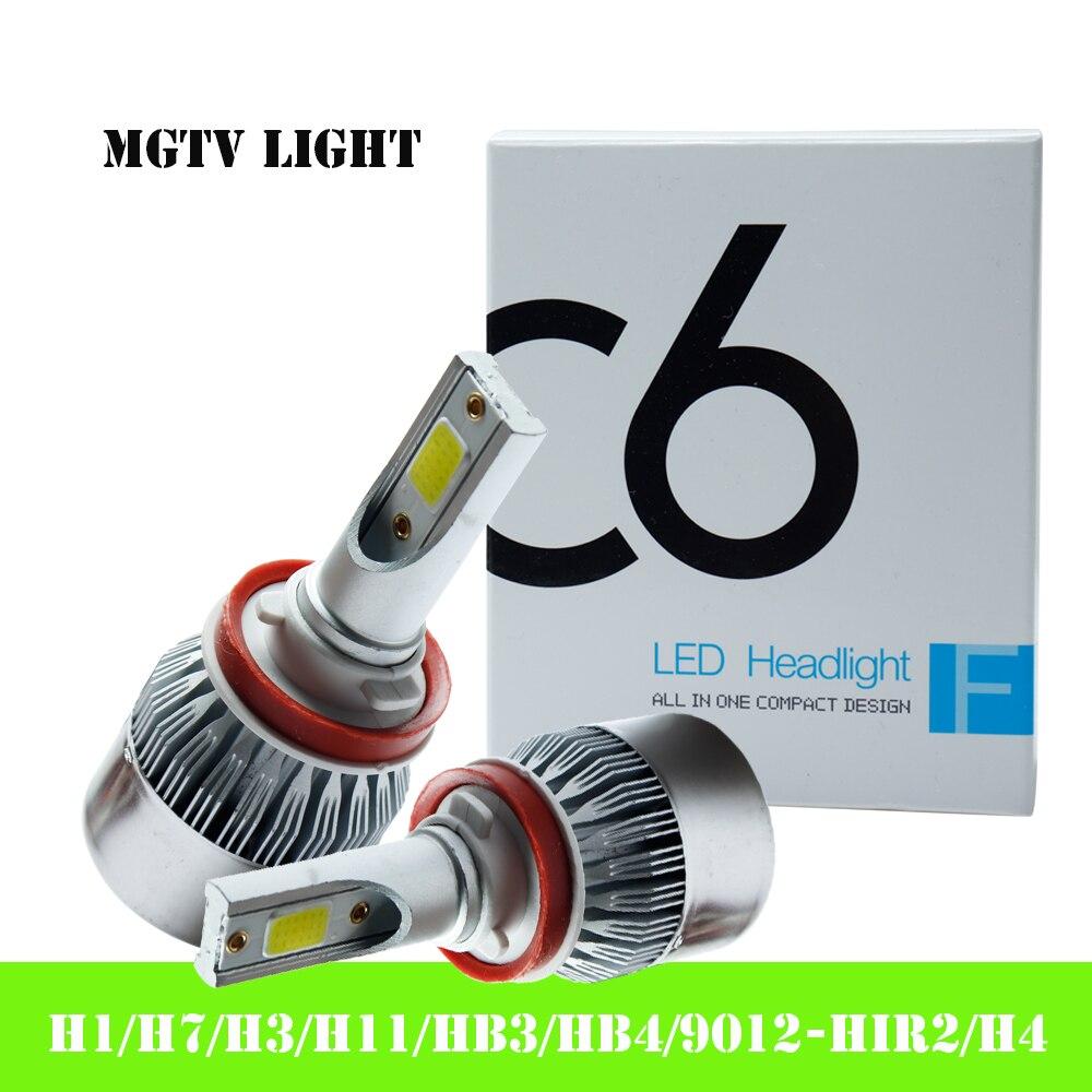 Ampoules de phares de voiture H11 H4   2x H7 3000 H3 H8 HB1 HB3 HB4 HB5 H10 HIR2 H13 H16 H27 4300K 6000K 8000K COB C6