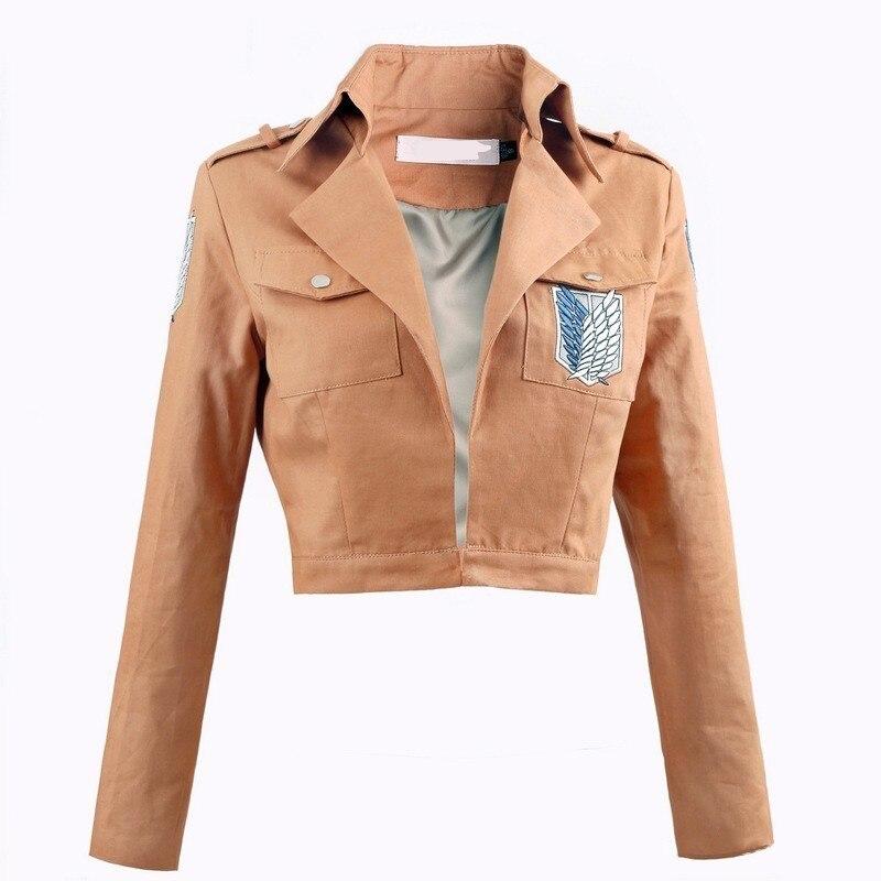 Anime Attack on Titan Mikasa Levi Ackerman Cosplay Jacket Costume Unisex Scout Regiment Battle Fight Uniform Cloth Coat