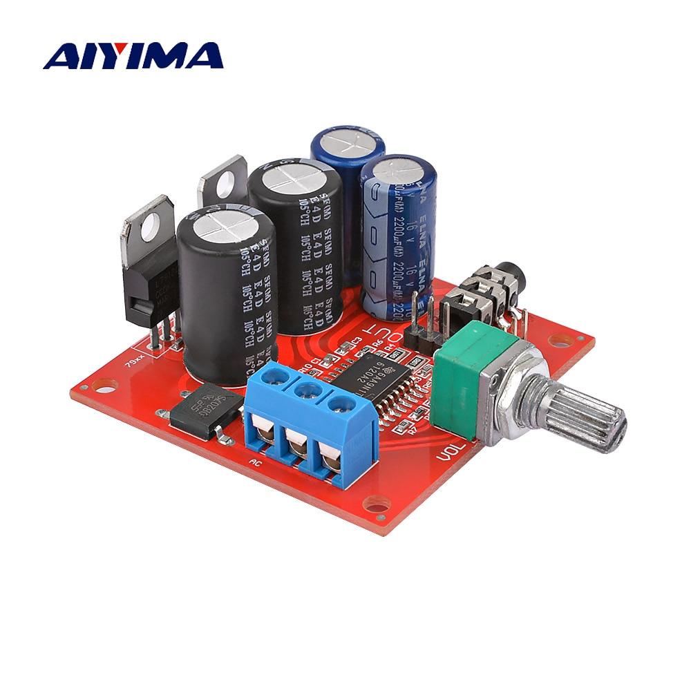AIYIMA-placa amplificadora de auriculares TPA6120, dispositivo estéreo con ajuste de volumen