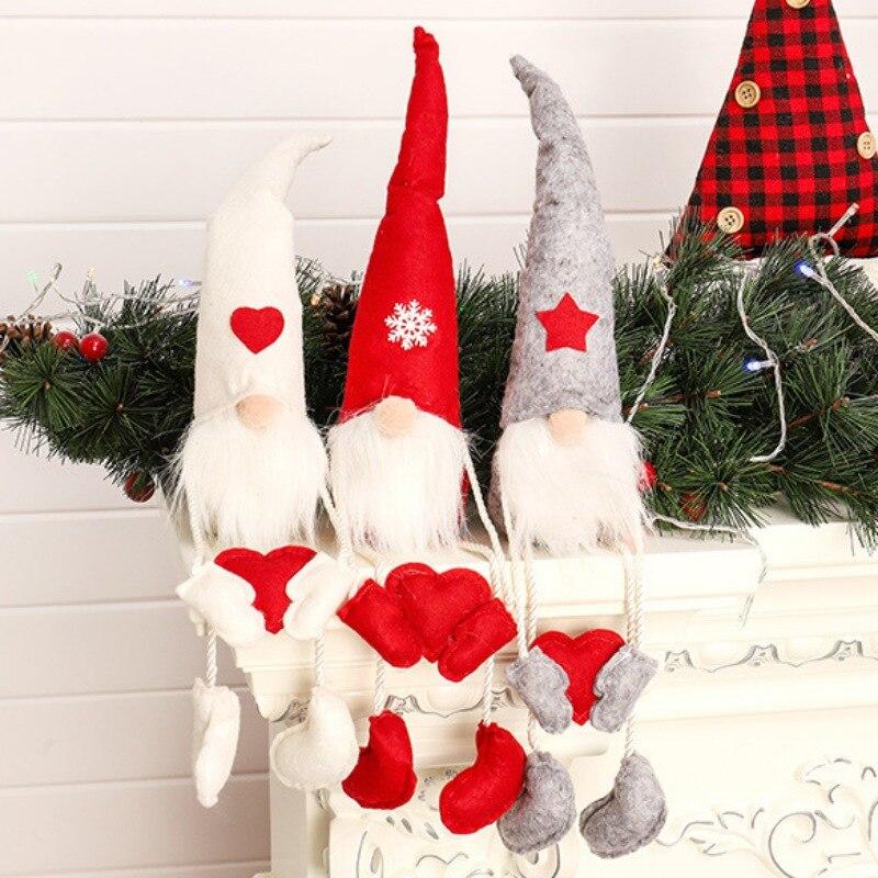 Pluche Goblin Kerst Hanger Klassieke Kerst Seated goblin Ornament Voor Festival Gift Home Decoratie Benodigdheden