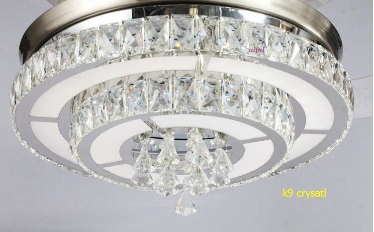 LED 42inch 108cm 4 color changing light K9 Crystal Ceiling Fan Modern/Contemporary Living room 110-240v  - buy with discount