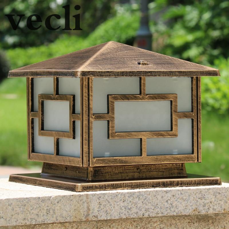 Популярная европейская квадратная лампа для стойки, уличная Ретро Водонепроницаемая колонна для сада, балкона, виллы, коридора, chapitar лампы