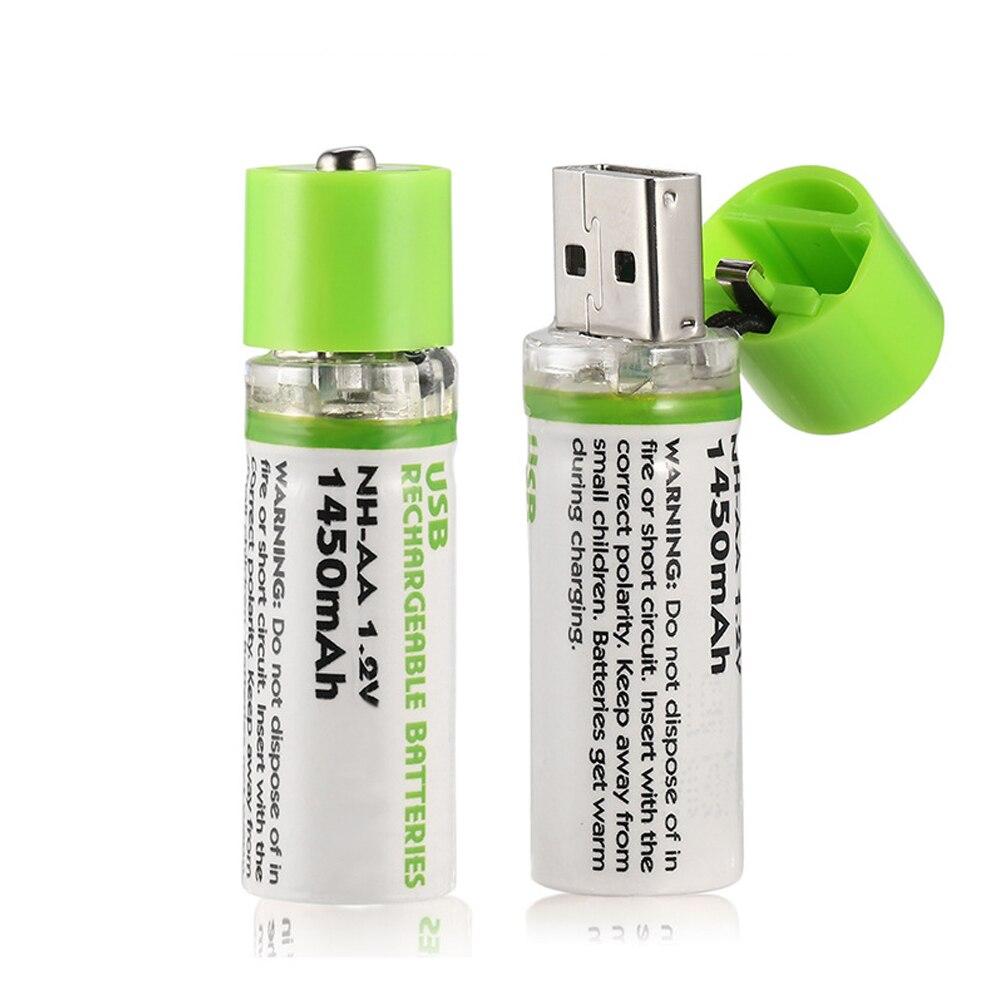 2/4/8psc JRGK AA de 1,2 V 1450mAh Ni-MH batería recargable USB AA de carga de batería de 1,2 v