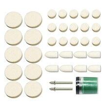 36 pièces lainage polissage roues 3.2mm tige mandrin Mini forets pour Dremel outil rotatif accessoires ensemble