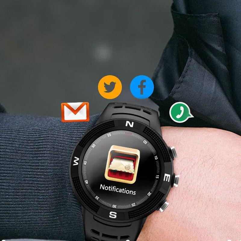 Reloj inteligente de 1,3 pulgadas con rastreador GPS a prueba de agua, reloj inteligente con pantalla de bola 3D para hombres con Monitor de ritmo cardíaco