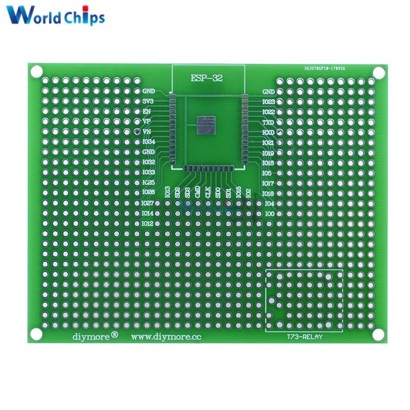 1 Uds 7x9CM prototipo PCB Placa de pruebas para ESP8266 ESP-12E ESP-12F ESP32 ESP-32S prototipo de doble cara real PCB nueva llegada