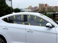 14pcs Upper+Bottom Full Window Frame cover Sill Trim for Hyundai Elantra Avante 2016 2017