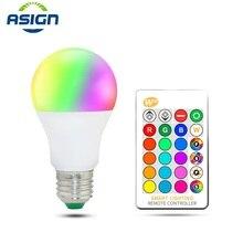 E27 E14 LED Ampoule RGB lampe AC110V 220V 3W 5W 10W 15W Ampoule lumière LED Dimmable magique vacances RGB éclairage + IR télécommande