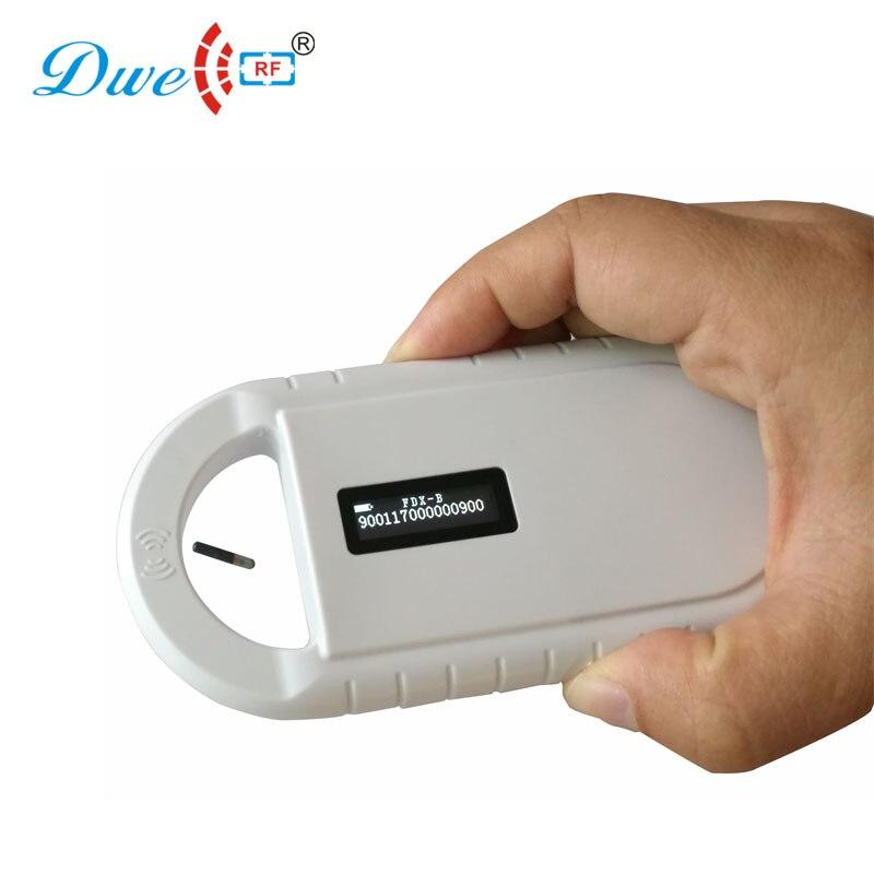 dwe cc rf leitores de cartao de controle iso fdx b tag microchip animal leitor scanner