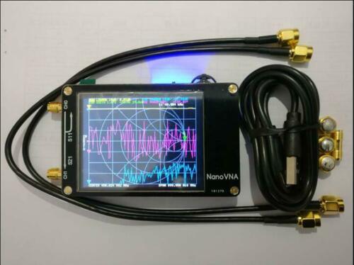 Nuevo Analizador de antena del analizador de la red del Vector de NanoVNA de HF VHF UHF UV + LCD de 2,8 pulgadas + batería