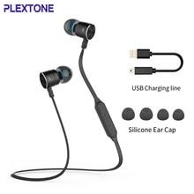PLEXTONE Bluetooth Sport écouteur CSR 8635 Bluetooth 4.0 Bluetooth écouteur avec Microphone appel sans fil connecter deux téléphones