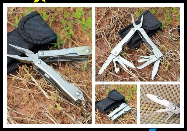 Ao ar livre equipamentos de camping pesca Multitool Mini Ferramentas Alicate Faca Canivete suíço Portátil Multi-tool kit com caso