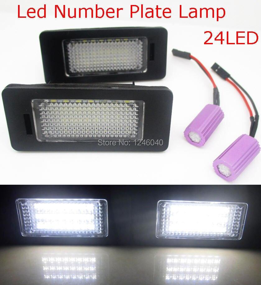 2 uds Led luz de placa de matrícula para asiento ALHAMBRA 2011 ~ IBIZA ST 2009 ~ Skoda Octavia 2013 ~ rápida 2012 ~ canbus