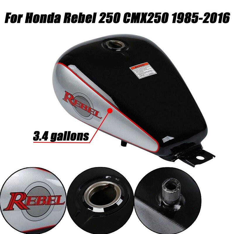 Motorcycle New 3.4 gallons Fuel Gas Tank For Honda CMX 250 CMX250 Rebel 1985-2016 04 05 06