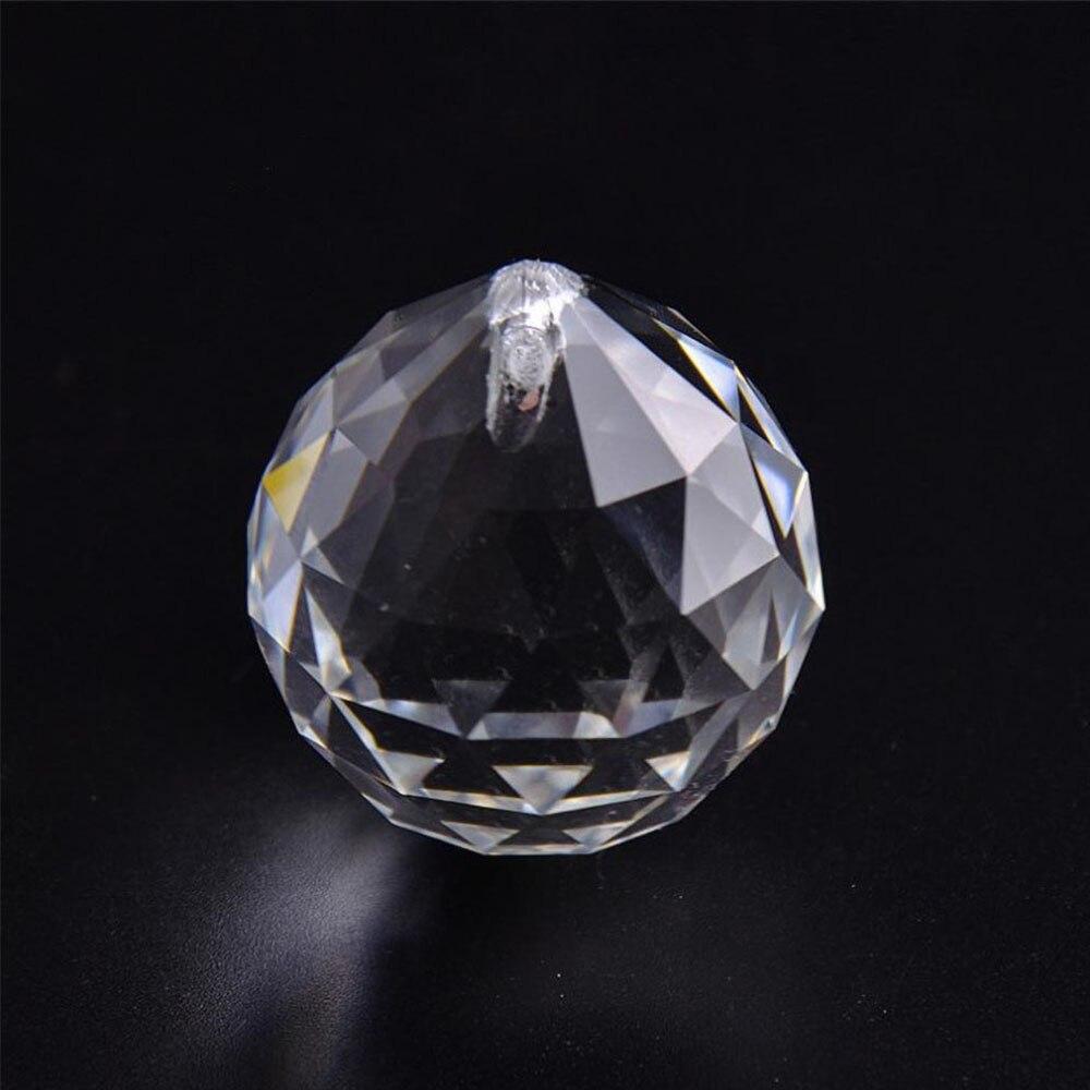 4 teile/los hbl klar 40mm Feng Shui Dekorative Ball Glas Facettierte Prisma Ball Kristall Kronleuchter Teile Lampe Ball für diy Vorhang
