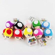 Super Mario Bros Stuffed Dolls Toad Mushroom Plush Toys 6CM Plush Toys Keychain Cellphone Strap