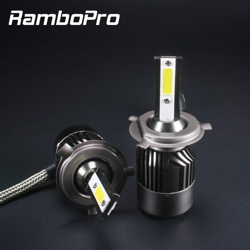 2018 Super Led H4 Led faro 12V 24V Auto faro lámparas Universal Lampada H4 bombilla Led kit