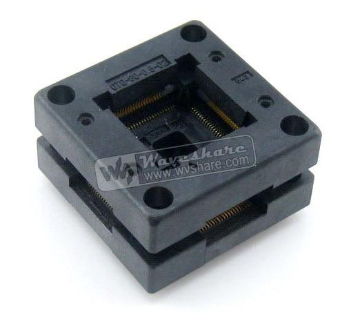 Free Shipping! Enplas QFP80 OTQ-80-0.5-02 TQFP80 LQFP80 PQFP80 QFP IC Test Burn-In Socket 0.5mm Pitch IC Body Size 12*12 mm