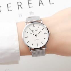 Novo relógio de luxo feminino simples homens ultra fino moda casual relógio feminino masculino relógio de pulso amantes relogio masculino 2018