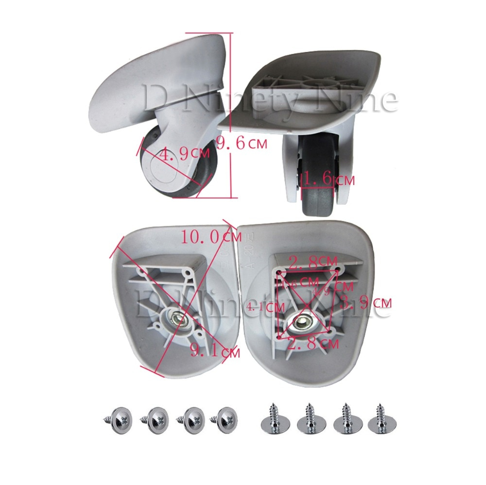 A20 бесшумные колёсные тележки багажные колёса аксессуары колесики для замены партии Запчасти для багажа колёса Чемодан Аксессуары для ремо...