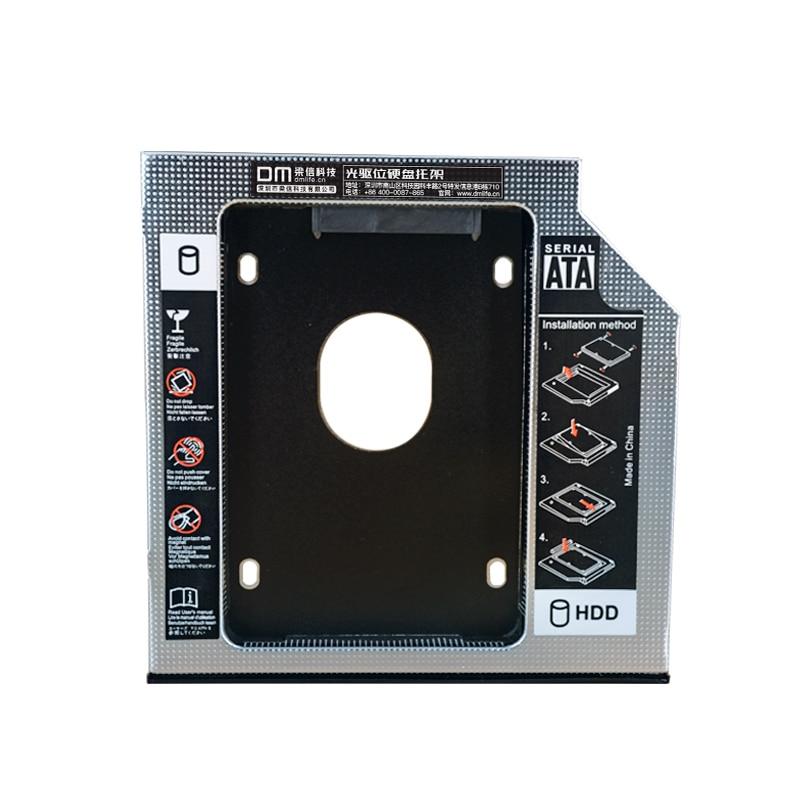 DM SSD Adapters DW127s 12.7mm Plastic Optibay SATA 3.0 Hard Disk Drive Box Enclosure DVD Adapter 2.5 SSD 2TB For Laptop CD-ROM