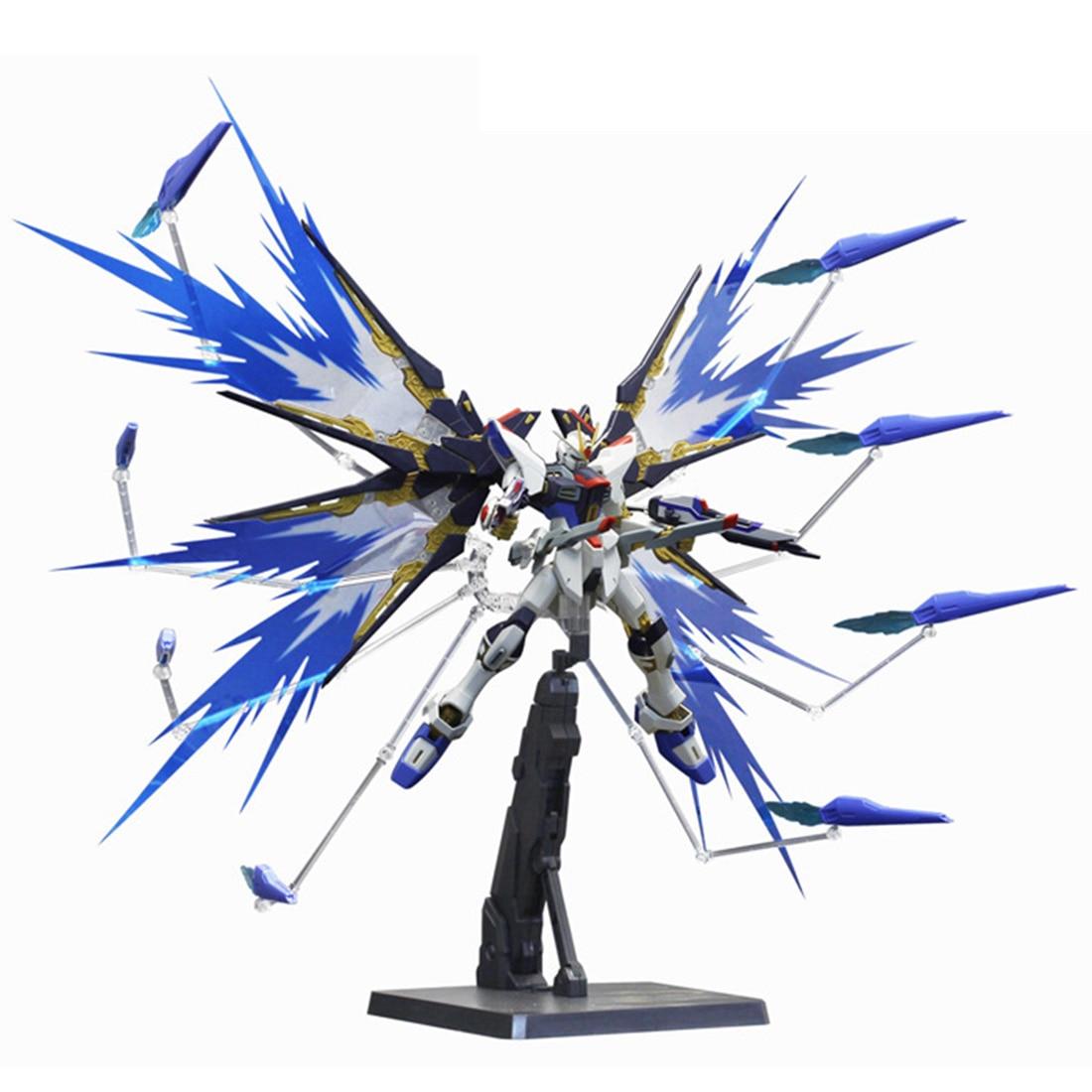 Juego de Base de efecto de ala de pieza modificada para modelo de escala Gundam 1/100 figuras de acción y Juguete