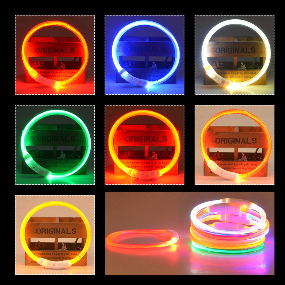 2019 New StyleRechargeable USB Waterproof LED Flashing Light Band Safety Pet Dog Collardog accessories Pet supplies