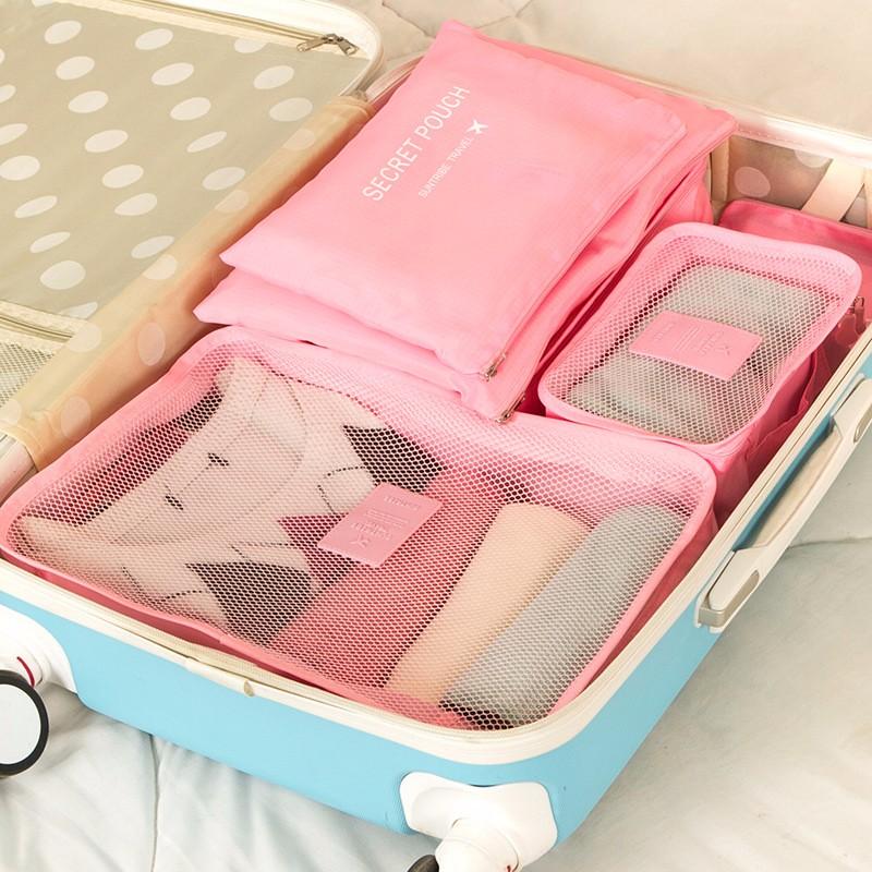- HTB1TpyBOXXXXXb1XFXXq6xXFXXXS - 6-Pieces Travel Bag Organizer Set.