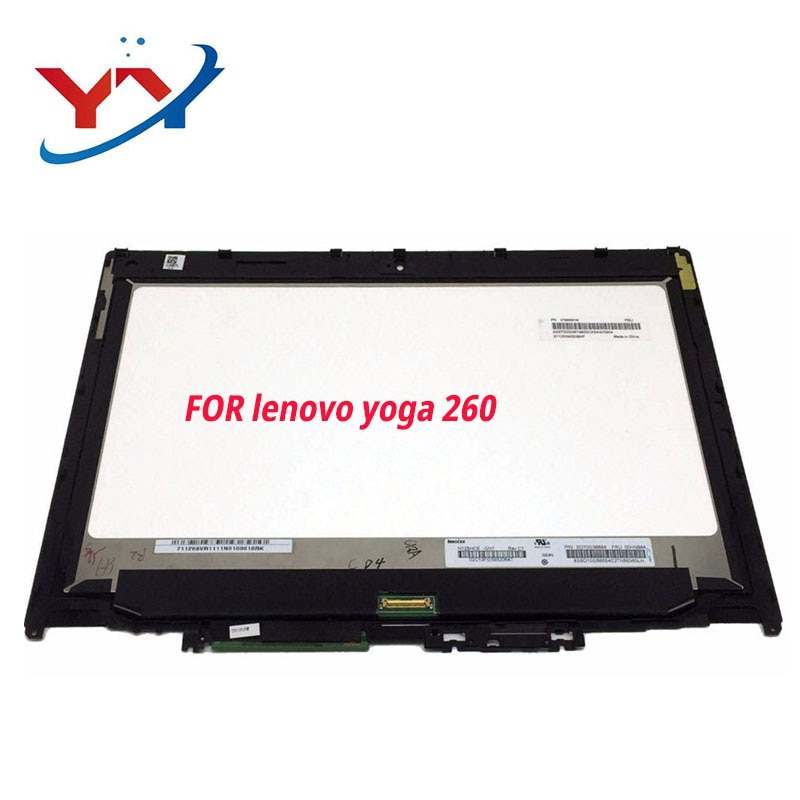 Original para lenovo thinkpad yoga 260 20fd0002us fhd montagem da tela de toque lcd + moldura