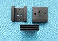 2 pièces 45x45x14mm dissipateur de chaleur en aluminium daileron de refroidissement pour TO3 à-3 Transistor accessoires de refroidissement en métal 45*45*14mm