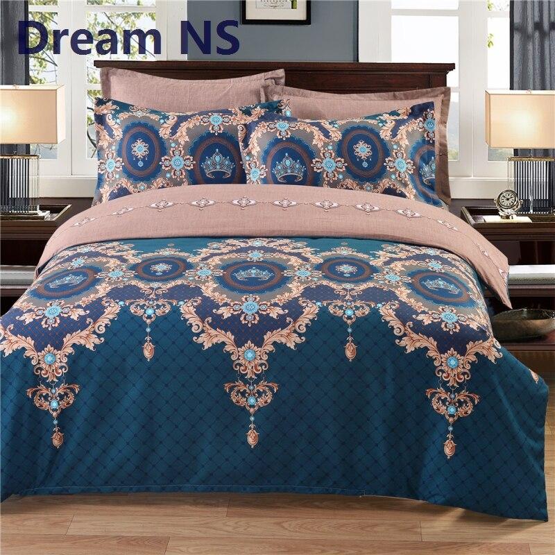 AHSNME Real Jogo de Cama EUA REINO UNIDO Rússia Tamanho para cama de Solteiro Cama de Casal 1 pc Capa de Edredon + Fronha de Luxo Europeu roupa de cama