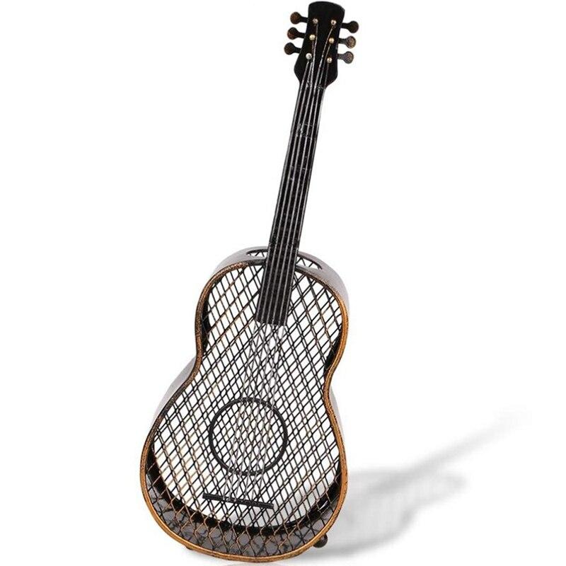 Металлическая скульптура гитара вино пробка контейнер винтажное украшение дома