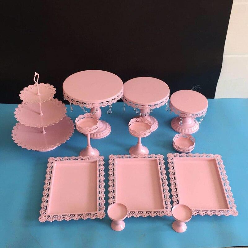 12 шт Серебряный Торт Стенд Свадебный кекс стенд набор металлический купол Кристалл конфеты бар инструменты для украшения торта Формы для в...