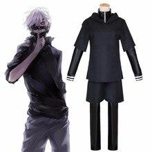 JP Anime Tokyo Ghoul Ken Kaneki Cosplay Costume ensemble complet en cuir noir combat uniforme femmes hommes Halloween Costume avec masque perruque