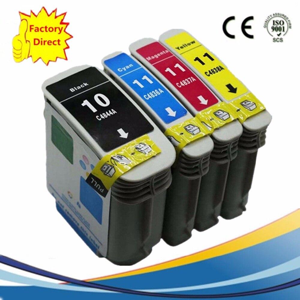Reemplazo de cartucho de tinta para HP10XL 10XL 11XL HP10 HP11 de negocios de inyección de tinta de 2600dn 2800 2800dt 2800dtn Designjet 100