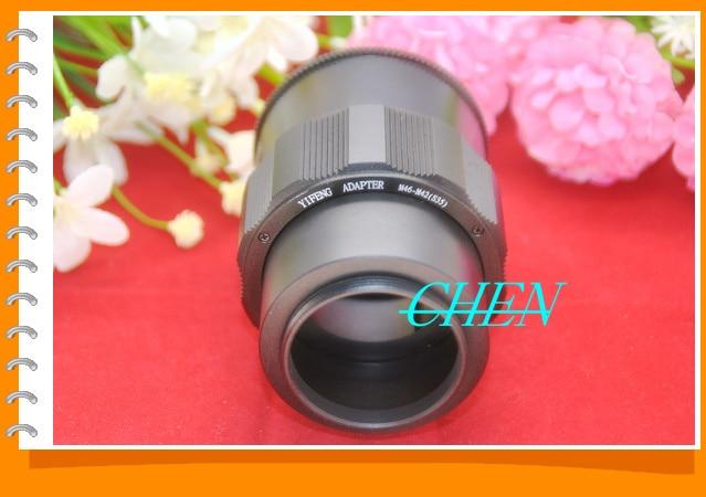 M46 lente para M42 Cámara ajustable enfoque adaptador de anillo helicoidal 36-90mm Tubo de extensión macro M46-M42