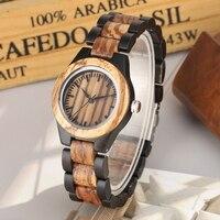 Retro Mixed Wood Quartz Watches Women Watch Full Adjustable Wood Band Sport Fashion Casual Women Clock Hour Top Luxury reloj