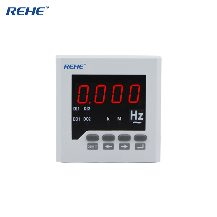 Medidor de frecuencia LED monofásico inteligente Digital REHE RH-F71 80*80MM