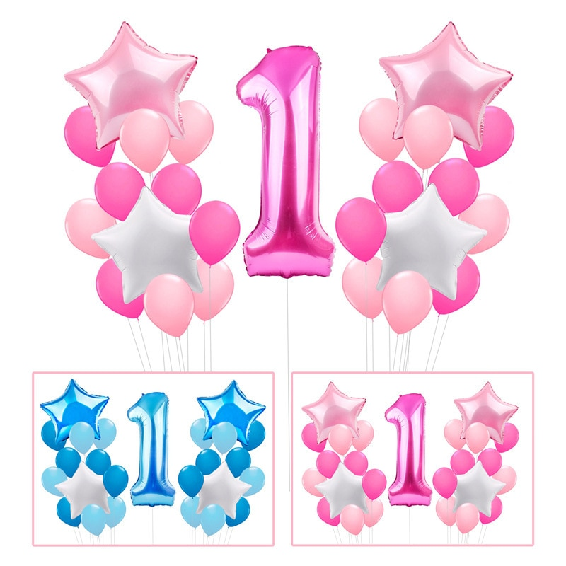 Baby Birthday Birthday Digital Balloons Rainbow Decoration Children Wedding Anniversary Decoration