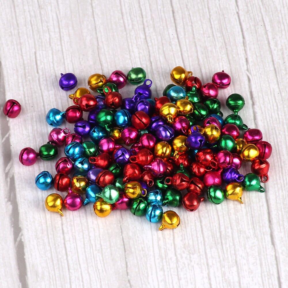 10mm 100 pcs Sinos de Tinir Sinos De Ferro Para Artesanato Pequenas Contas Festival de Natal Sinos Decoração Acessórios timbre campanellini
