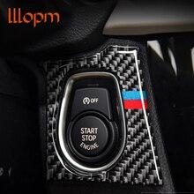 For bmw F30 F34 Car Engine Start Stop Ignition Key panel Stickers Carbon Fiber circle M Stripe Trim 3 Series/GT Accessories