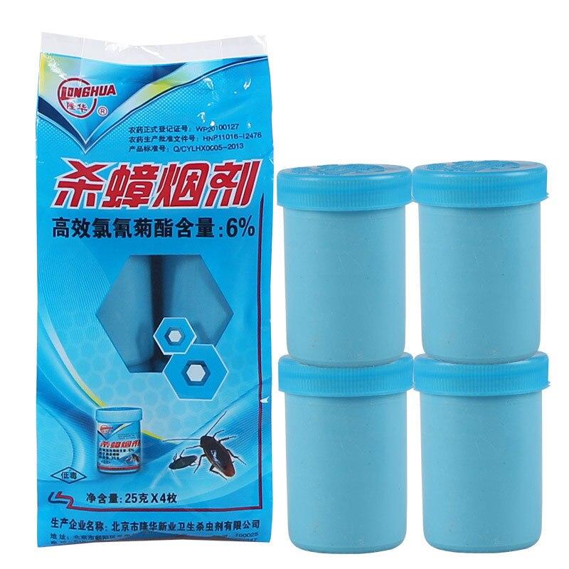 4 unids/bolsa potente cucaracha eficaz que mata el humo bomba insecticidas Control de Plagas Mosquito mosca repelente de insectos Cocina