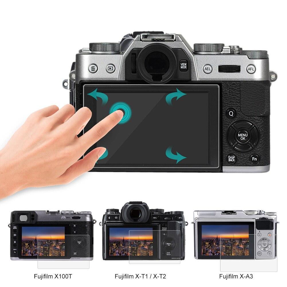 PULUZ Dustproof HD 9H 0.3mm Tempered LCD Screen Protector for Fujifilm X-70/T10/T20/T1/T2/A3 Digital Camera Toughened Glass Film