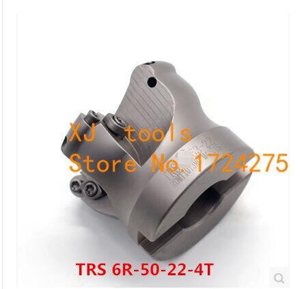 TRS-6R-50-22-4T, fresa CNC de superficie redondeada, herramientas de corte de fresado, fresa frontal, inserto de carburo RDMT1204
