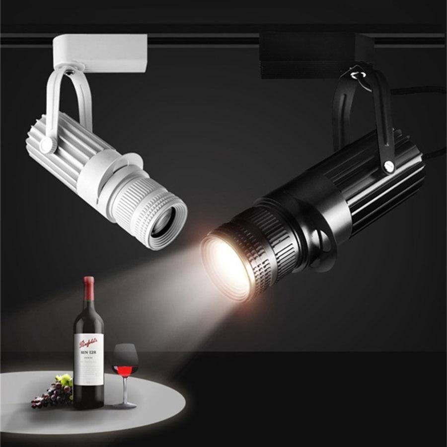 Thrisdar Zoom LED Track Spotlights 4 level Adjustable Focusing LED Ceiling Downlight Restuarant Bar Museum Cafe shop Track Light
