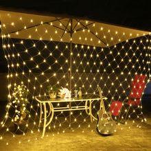 EU Standard 220V Net Mesh LED String Lights Warm White Decoration Lamps