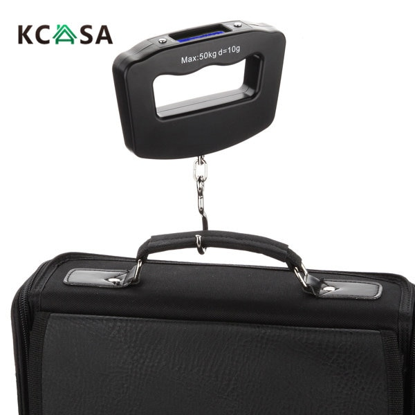 KCASA KC-S18 portátil 50 kg/10g LCD portátil Digital pez colgante equipaje peso electrónico gancho herramienta de medición para la cocina