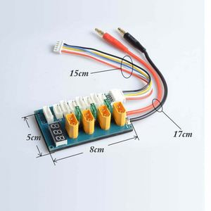 AKK XT60 Parallel Charging Board Charge Plate for 3S 4S Lipo Battery With Voltage LED Display